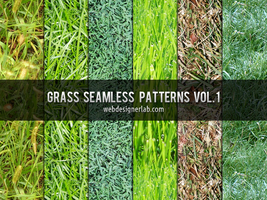 Grass Seamless Patterns by xara24
