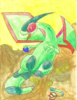 fighting flygon by pitch-black-crow