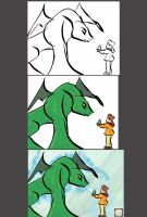 Boy and Dragon: Process by ENTITY-JS