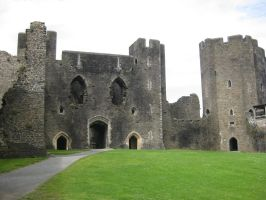 Caerphilly Castle 2 by Hrivalasse-stock