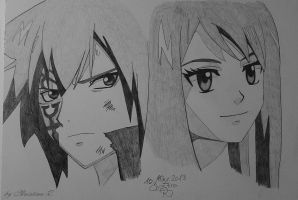 Jellal and Erza by Monstacookie