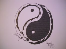 Dragonair YinYang Tribal Tattoo by ArchangelVampire
