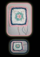 Crochet granny square part 04 by seawaterwitch