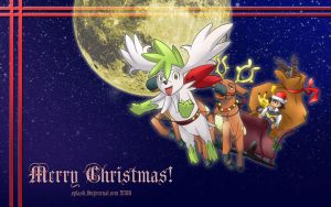 Pokemon - Xmas 2008 Wallpaper by splashgottaito