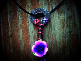 Cheshire Cat Inspired Necklace by SteamPixy