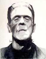Boris Karloff - Frankenstein's Monster by FiragaShark