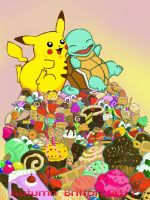 pikachu and squirtle by AliceVamp