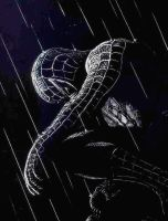 Spiderman Etching by Dr-Horrible