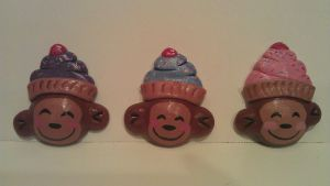cupcake monkey magnets by ColleensCritters