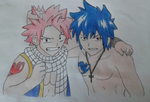 Natsu Dragneel and Gray Fullbuster by Daphne-Swiftx13