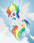 Super Rainbow Dash by DANMAKUMAN