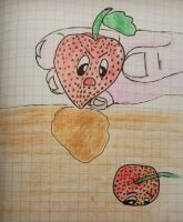 No strawberrys don't grow in earth! hehe by Carlitos-Girl
