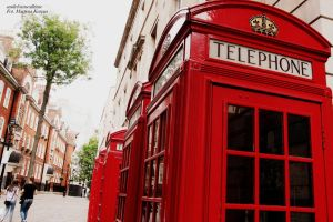 London telephone booth by smileformealltime