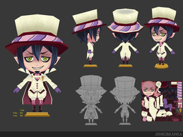 3D Low polygon : Blue Exorcist Mephisto by JinkiMania