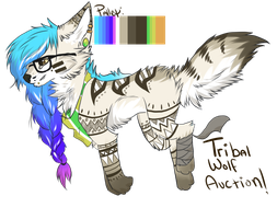 Tribal Hipster Wolf Auction!: CLOSED by SwashbuckIer