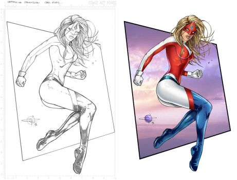 Captain UK Commission side by side by Carl-Riley-Art