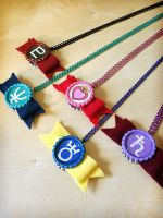 Sailor Senshi Bow Necklaces - Handmade - Outer by Monostache
