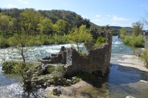 Ruins of small fortress in middle of River by A1Z2E3R