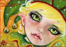 Aceo Christmas Elf by Katerina-Art
