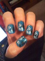 Konad Nail design butterflies by AngelElementsEtsy