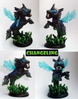 Changeling sculpture by DaOldHorse