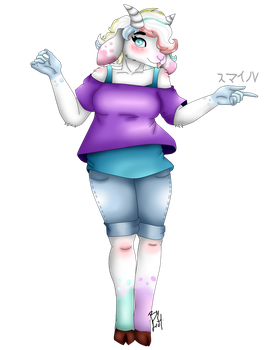 Commission Anthro Goat by LeaLenTilla