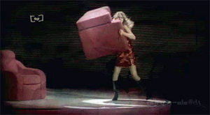 Tay throwing sofa GIF by Fairy-T-ale