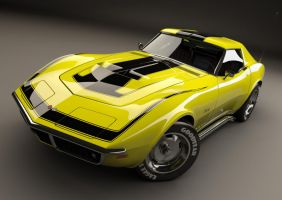 chevrolet corvette 1969 by gtgamewizard