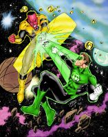 Green Lantern Space Battle by statman71