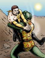 Kirk and Gorn Fight by Tim4
