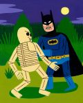 Batman Fights a Skeleton by Teagle