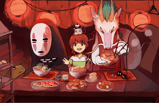 Time to eat! by Steamed-Bun