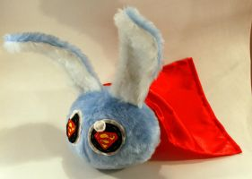 Superman Dust Bunny by Jadetiger
