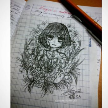 Doodle in class - Thank you.. by chichicherry123