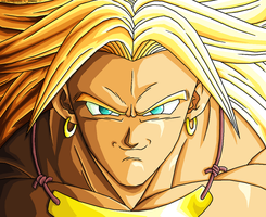 Broly SSJ - Grin REMASTERED by JJJawor