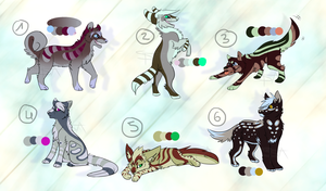 Canine adopts #1 - CLOSED by SwarThylacine-Adopts