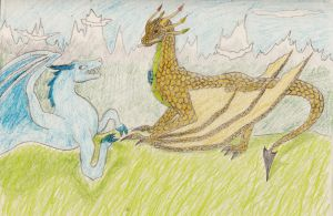 the dragon and the wyvern by Marl1nde