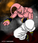 Super Buu Laughs by dct21