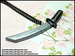 Katana Necklace by GrandmaThunderpants