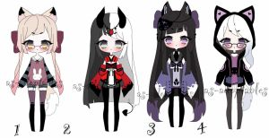 chibi kemonomimi adoptable batch CLOSED by AS-Adoptables