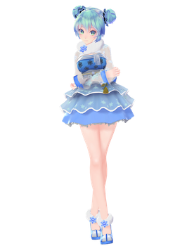 :DOWNLOAD: TDA SnowFlake Miku by SenseiTag