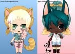 Kemono-chibi dress up game by Rinmaru