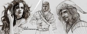 Sketches witcher by JustAnoR