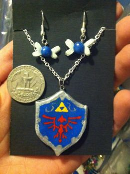 Legend of Zelda - Link's Sheild and Navi Set by DarkPony967