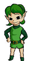 Wind Waker Saria by FireDragoness