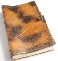 Unique Oak Leather Journal by gildbookbinders