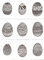 ATC Zentangle Easter Eggs by claudiamm37