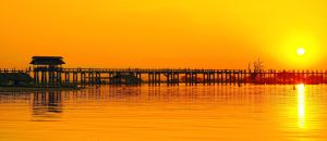 U Bein Bridge At Sunset 3 by CitizenFresh