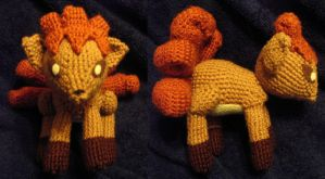 Vulpix Amigurumi Custom Plush by Lunarchik13