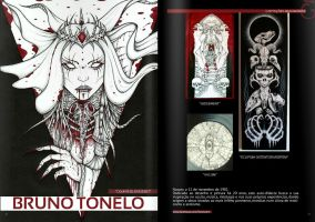 My artwork on 16th number of Abismo Humano magazin by tonelo